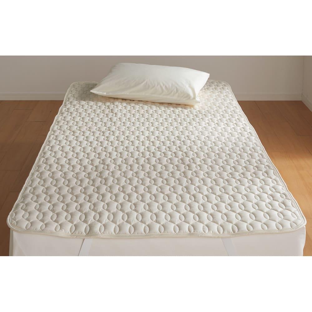 ベッド 寝具 布団 毛布 ベッドパッド 敷きパッド ウールウォッシャブルベッドパッド セミダブル 546095