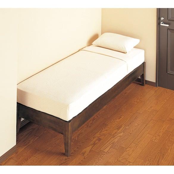 30サイズバリエーションベッド(国産マットレス付き) 長さ170cm 幅76~140cmまで5サイズ 細くて狭いスペースにも。 ※写真は幅76cm×長さ195cmタイプです。