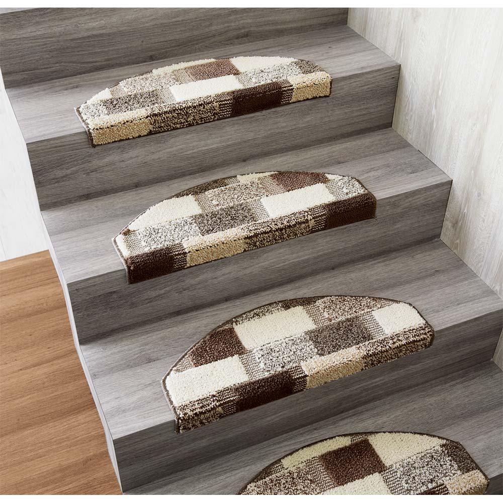 カーテン 敷物 ソファカバー カーペット ラグ マット 廊下敷き 階段マット 同色4枚組(イタリア製階段マット) 547839