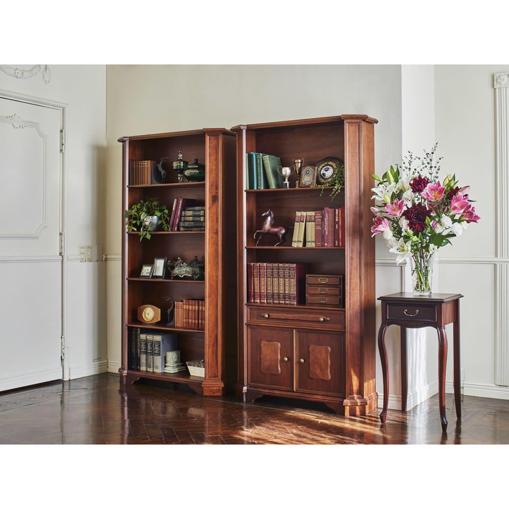 イタリア製ブックシェルフシリーズ オープンタイプ・高さ178.5cm シェルフ・飾り棚