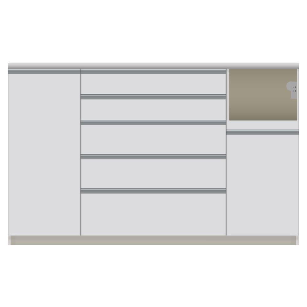 家電が使いやすいハイカウンター奥行45cm キッチンカウンター高さ101cm幅160cm/パモウナVQL-S1600R 下台 VQR-S1600R 下台 (ア)家電収納部:右 お届けの商品はこちらになります。