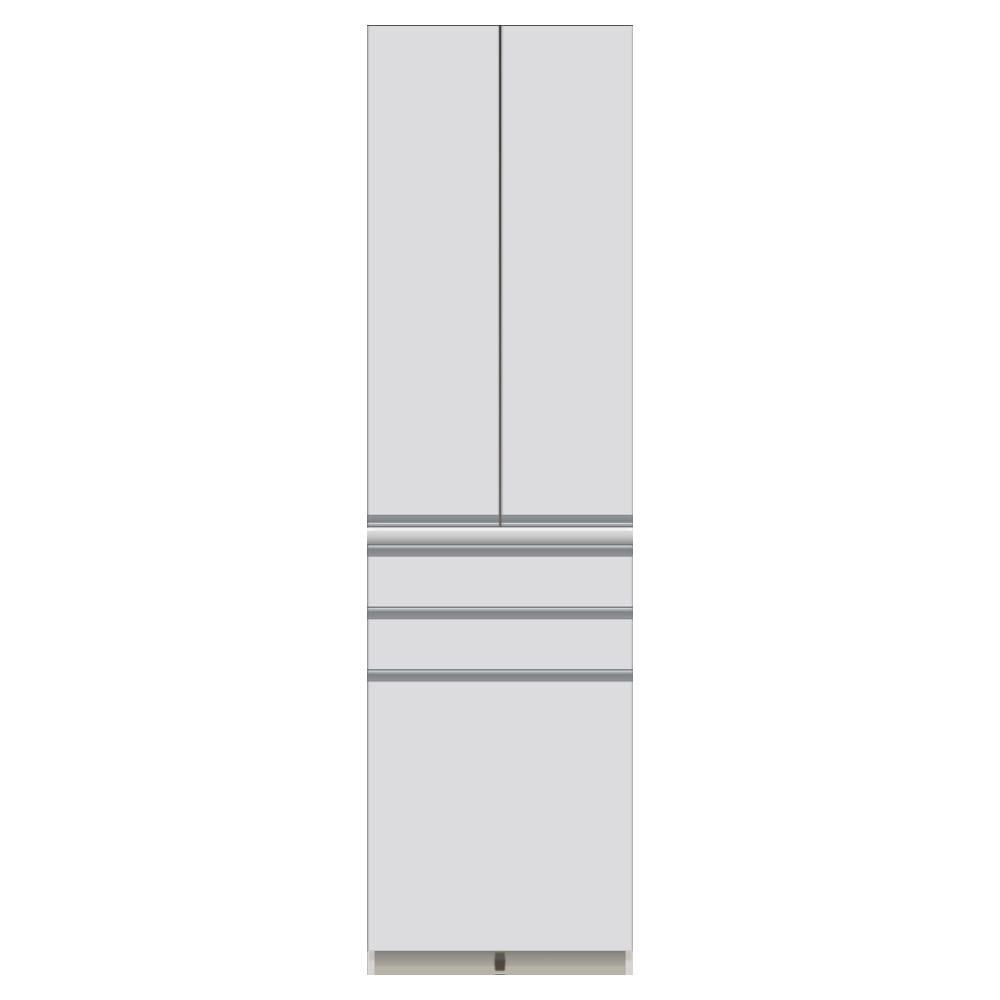 家電が使いやすいハイカウンター奥行45cm 食器棚高さ214cm幅60cm/パモウナCQ-S600K お届けの商品はこちらになります。