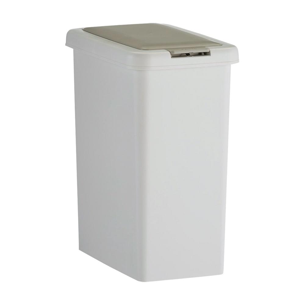 プッシュ式ごみ箱 26.5L シンプルで使いやすい、蓋つきののダストボックスです。
