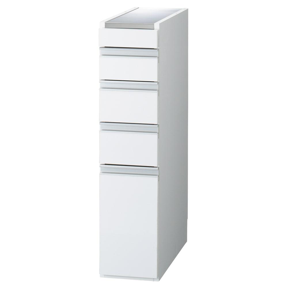 家具 収納 キッチン収納 食器棚 キッチン隙間収納 光沢仕上げダブルステンレス天板すき間収納庫 ロータイプ高さ85cm 幅20cm 550438