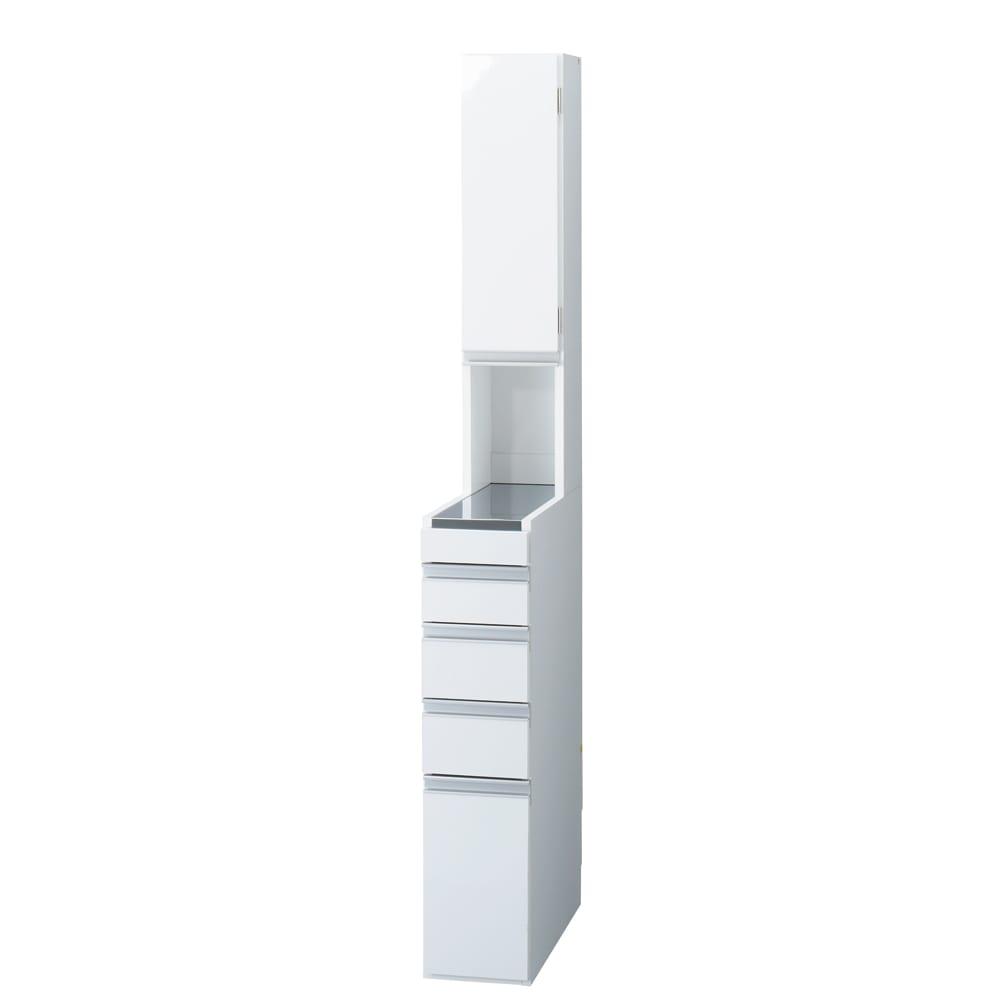 家具 収納 キッチン収納 食器棚 キッチン隙間収納 光沢仕上げダブルステンレス天板すき間収納庫 ハイタイプ高さ170cm 幅20cm 550445