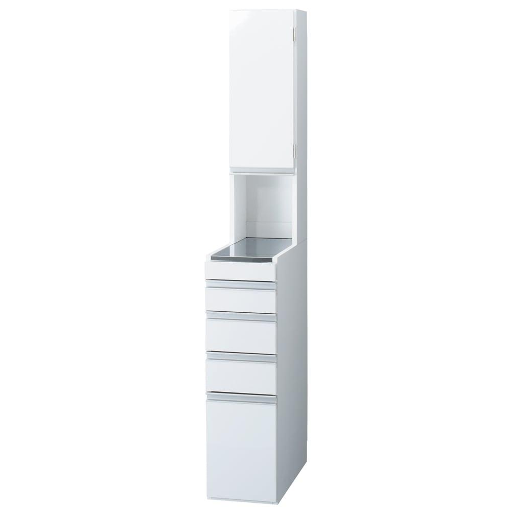 家具 収納 キッチン収納 食器棚 キッチン隙間収納 光沢仕上げダブルステンレス天板すき間収納庫 ハイタイプ高さ170cm 幅25cm 550446