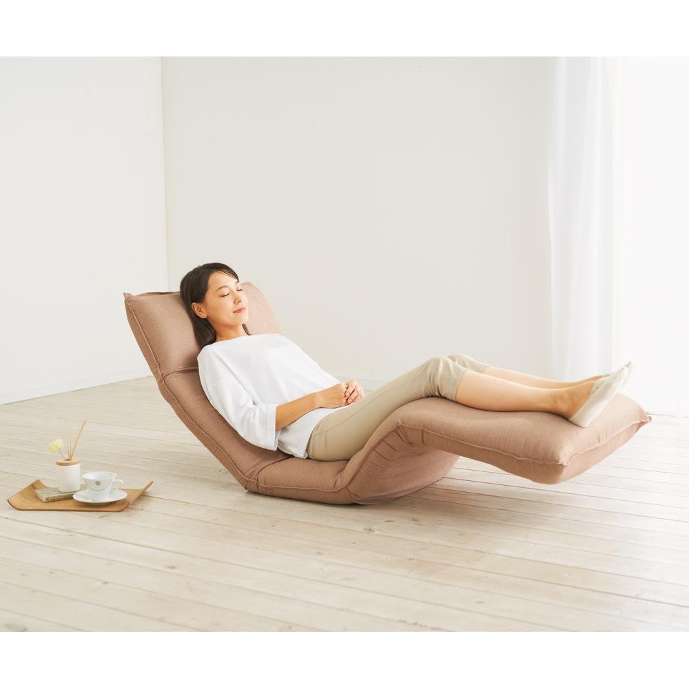 家具 収納 イス チェア 座椅子 産学共同研究から生まれたネオボディサポートチェアII ワイドロング・幅65cm 551903