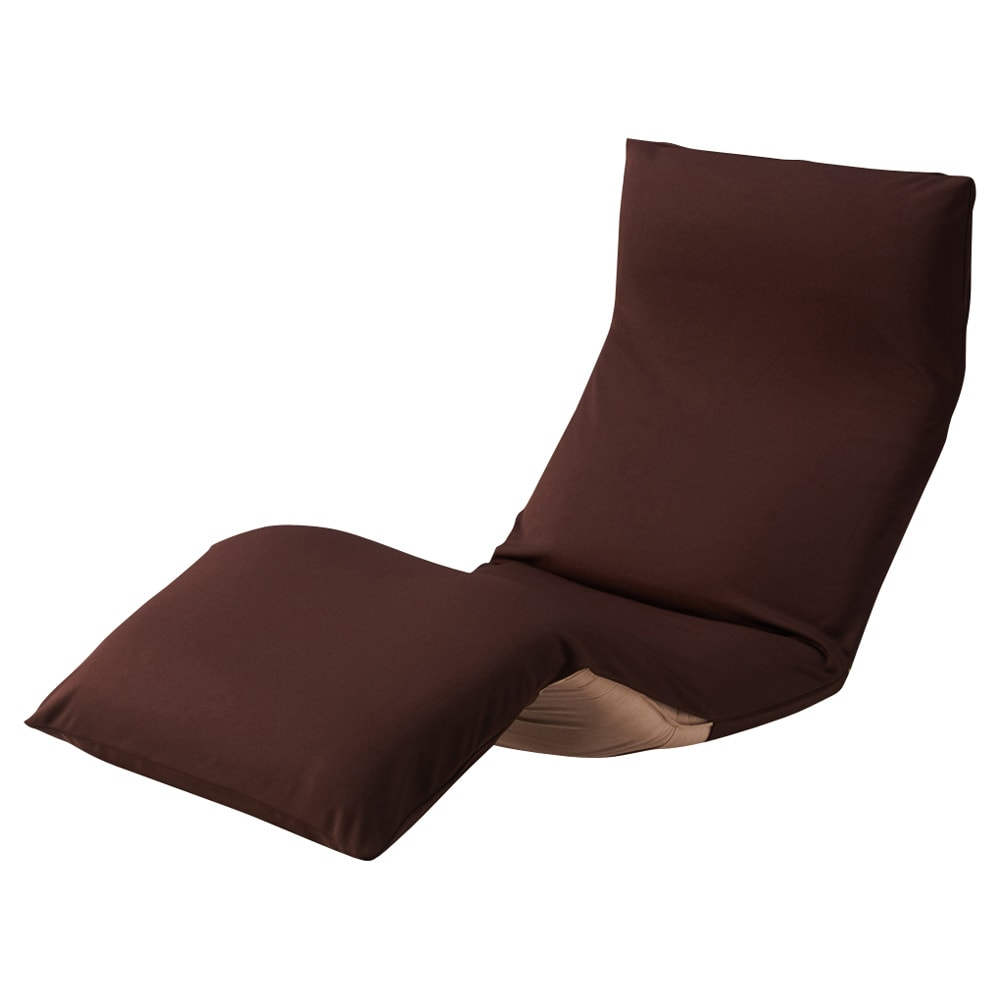 産学共同研究から生まれたネオボディサポートチェアII  ワイド幅65cm専用洗えるカバー 使用イメージ(ア)ダークブラウン ※お届けはカバーのみです。本体は商品に含まれません。