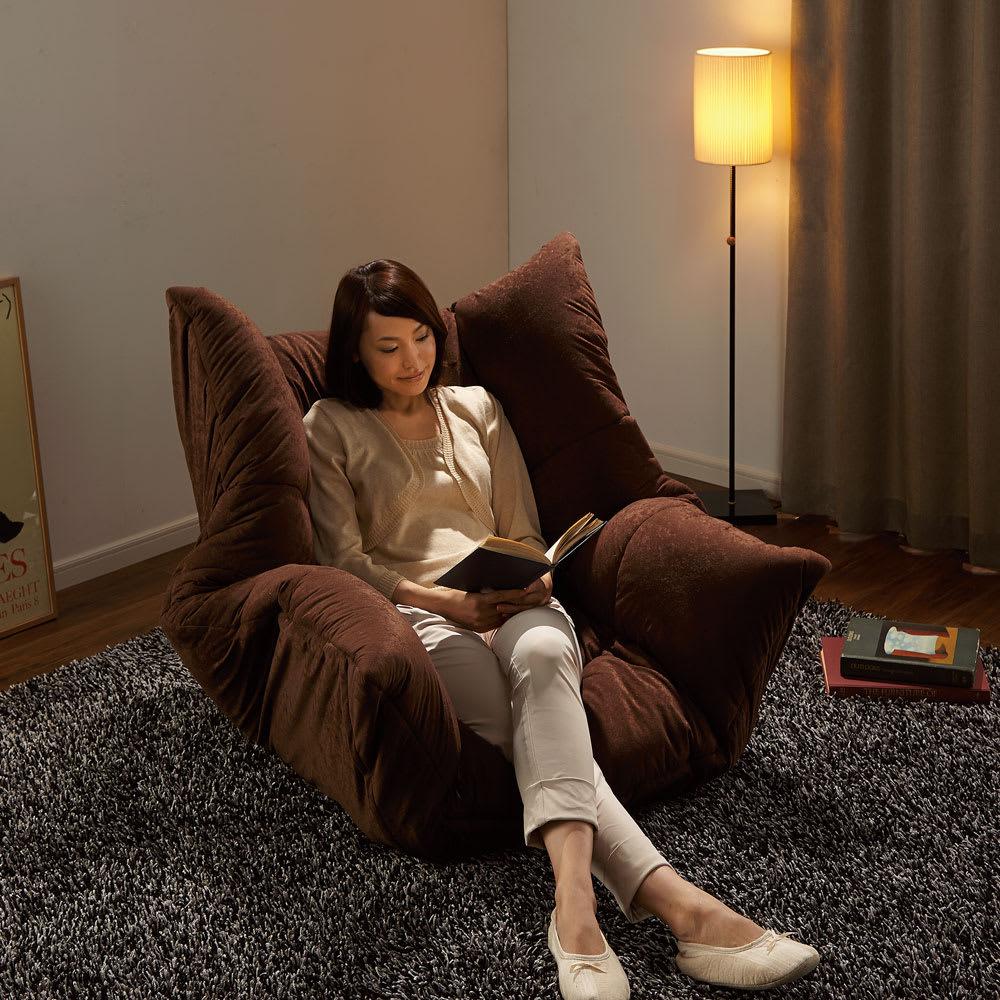 家具 収納 イス チェア アームチェア マルチリクライニング コンパクトソファ(座椅子) ハイバックタイプ 552106