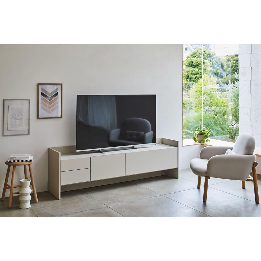 家具 収納 リビング収納 テレビ台 テレビボード グレイッシュモダンリビングシリーズ テレビ台 幅180cm 552503