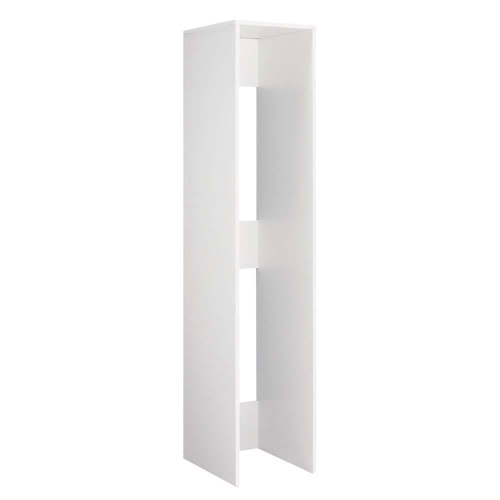 1cmピッチ スライド式すき間収納ワゴン用 2連ボックス単体 幅37.5cm (ア)ホワイト