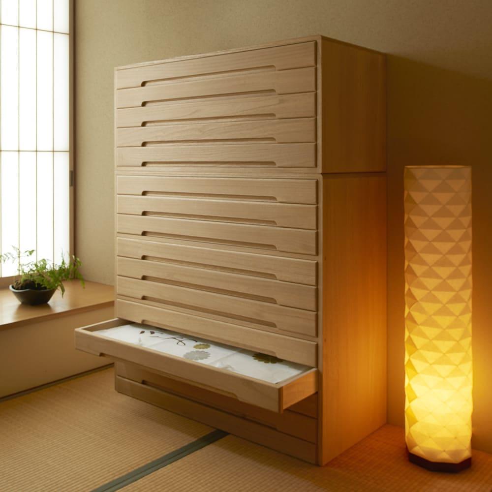 家具 収納 衣類収納 桐たんす(桐タンス) 自分仕様に造れる 総桐ユニット箪笥 着物収納箪笥10段 555608