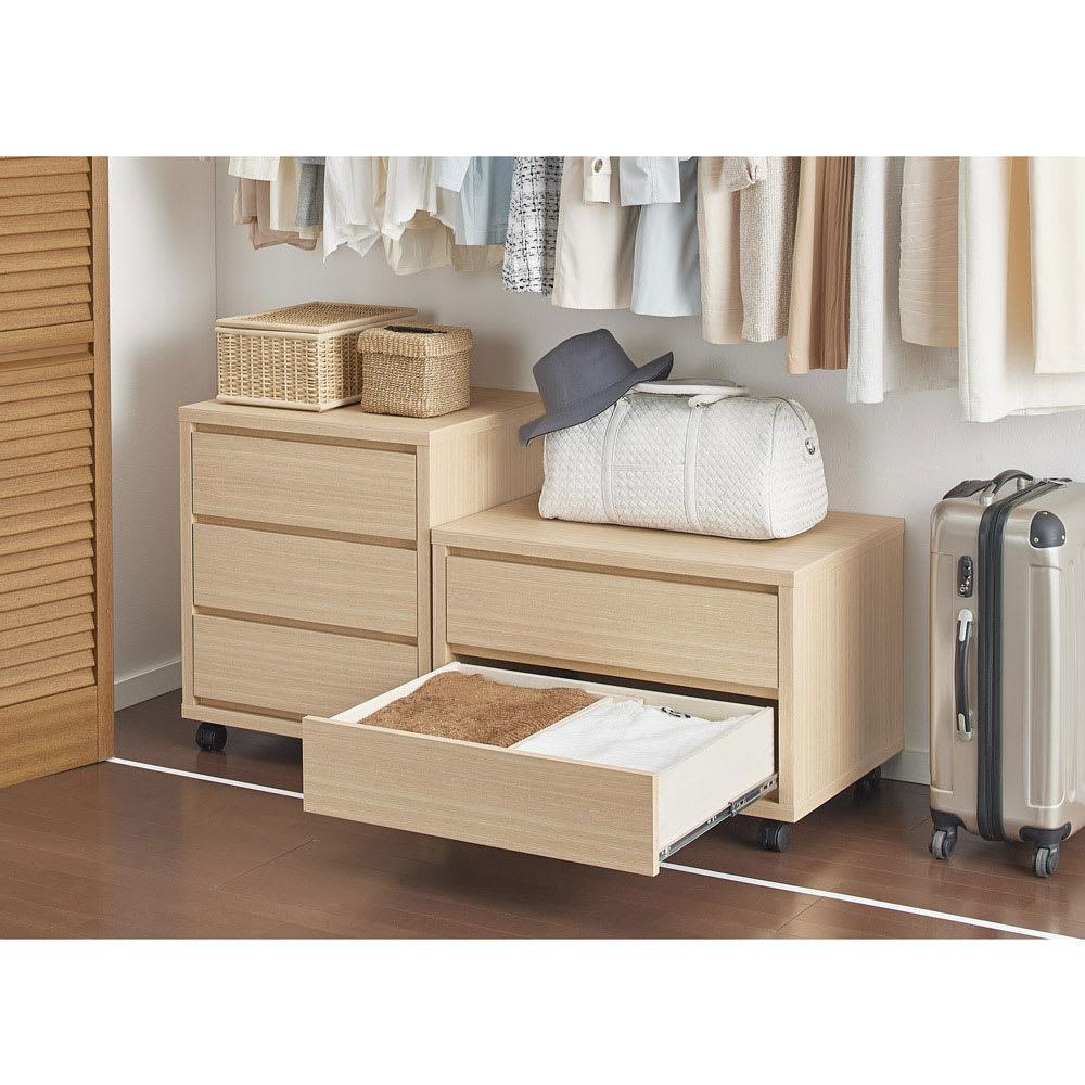 家具 収納 衣類収納 押入収納 クローゼット収納 奥行を最大限活かせる大量収納チェスト クローゼットタイプ・奥行54cm 3段・高さ71cm 幅60cm 555952