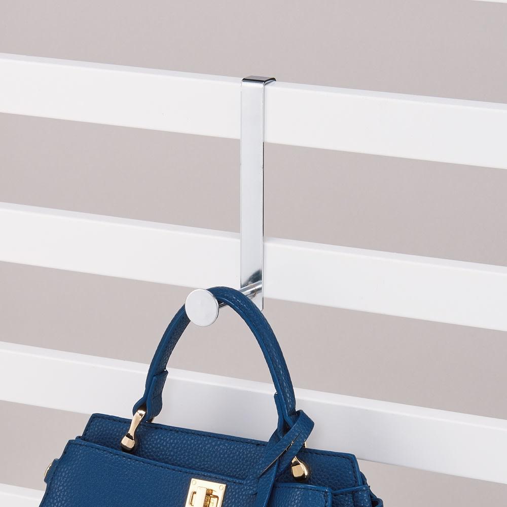 壁面ディスプレイハンガー用 追加L字フック5個組 L字フックにバッグや帽子、衣類などを。
