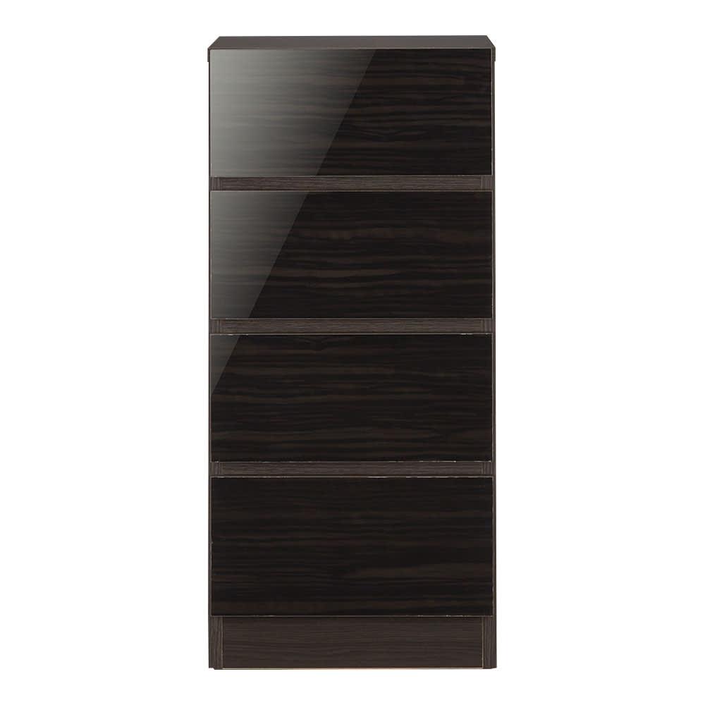 スクエア木目カウンター下収納  引き出し 幅25~45cm(1cm単位オーダー)奥行29cm (ウ)ブラック ※写真は幅40cmです。