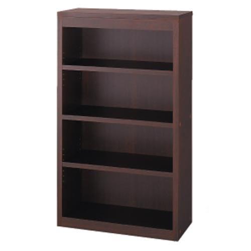 頑丈棚板がっちり書棚(頑丈本棚) ミドルタイプ 幅80cm (イ)ダークブラウン色見本 ※写真は幅80cmタイプです。