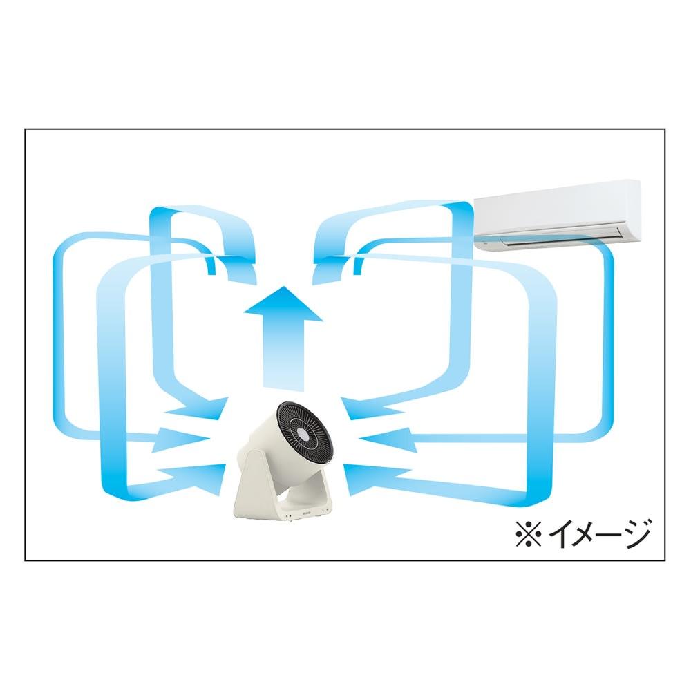 Green Fan C2(グリーンファン シーツー) 冷暖房との併用でスマートに節電 大風量と、広く遠くまで届く強力な送風力で部屋の空気を攪拌し、不快な温度差を解消。電気代も節約できます。 ※イメージ