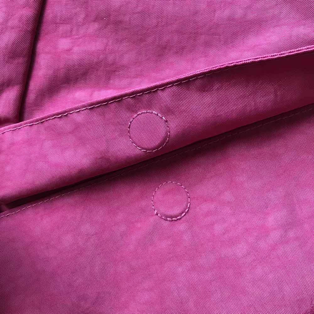 ヘルシーバックバッグ テクスチャードナイロン Sサイズ 外ポケットのフラップ部分はマグネット仕様に改良
