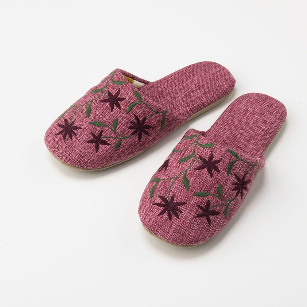シビラ スリッパ 〈アメリア〉 色が選べる2足組(内寸 約24cm) (エ)ピンク系