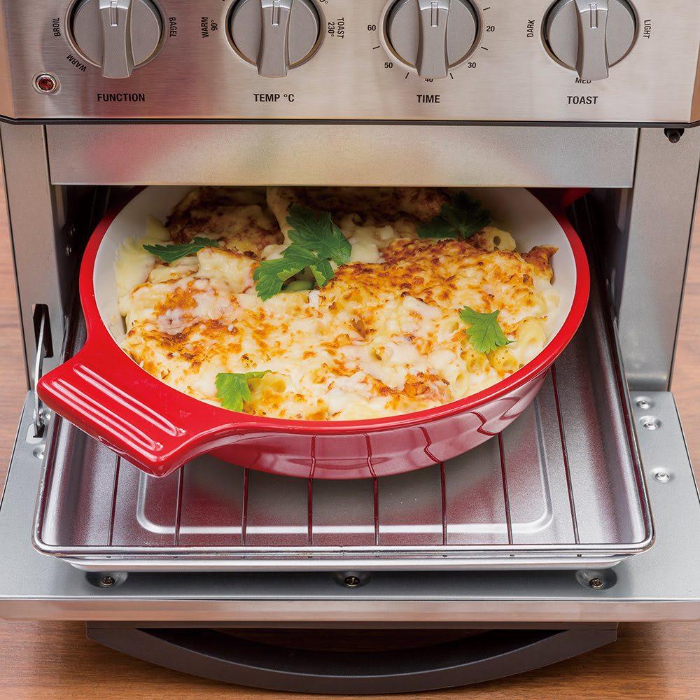 クイジナート エアフライオーブン トースター シルバー色 ミトン付きディノス特別セット【限定800個】 (オーブン)グラタンなどのオーブン料理も。