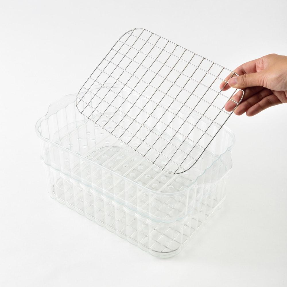 BRUNO/ブルーノ コンパクトホットプレート用蒸し器 ご使用する際には網を敷いてください