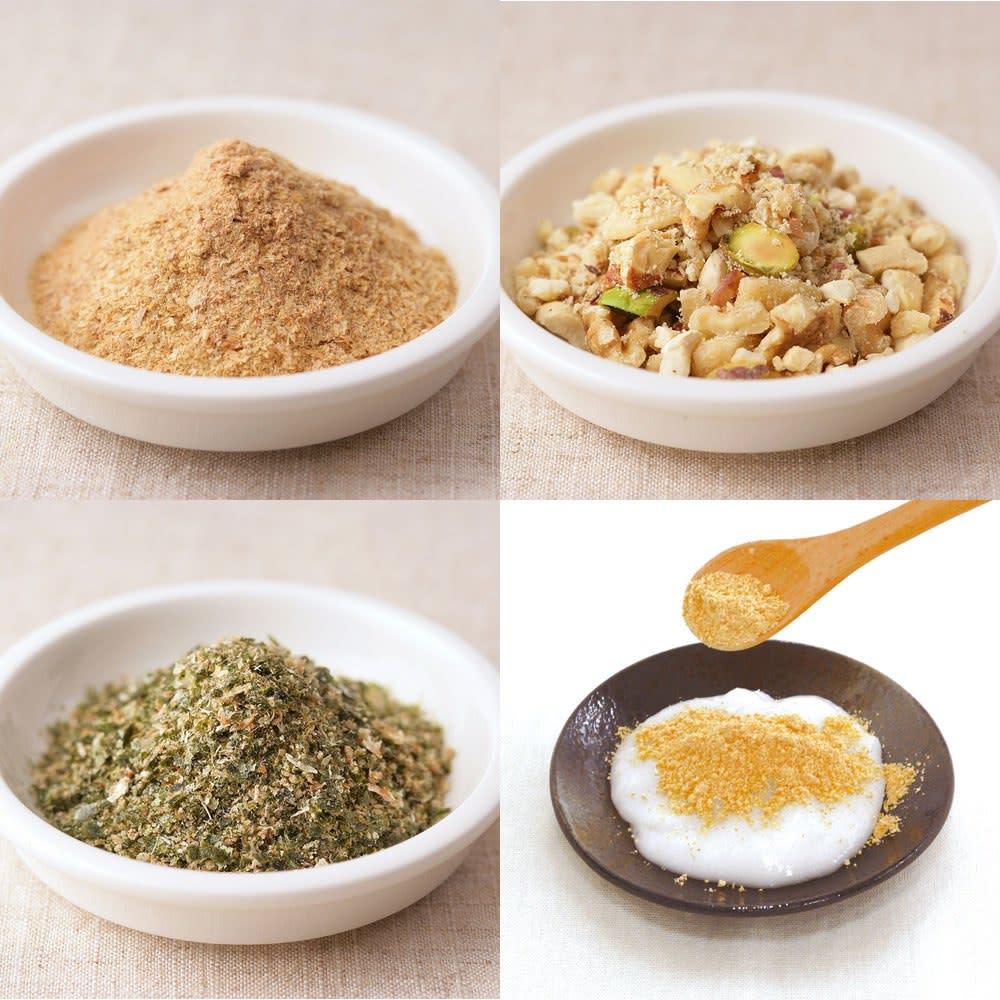iwatani イワタニ クラシックミルサー おろしカッター&ミクロン容器付き ディノス特別セット 大豆をきな粉にしたり、固いナッツ類を粉砕化できるのでカルシウムやたんぱく質をたっぷりいただけます。
