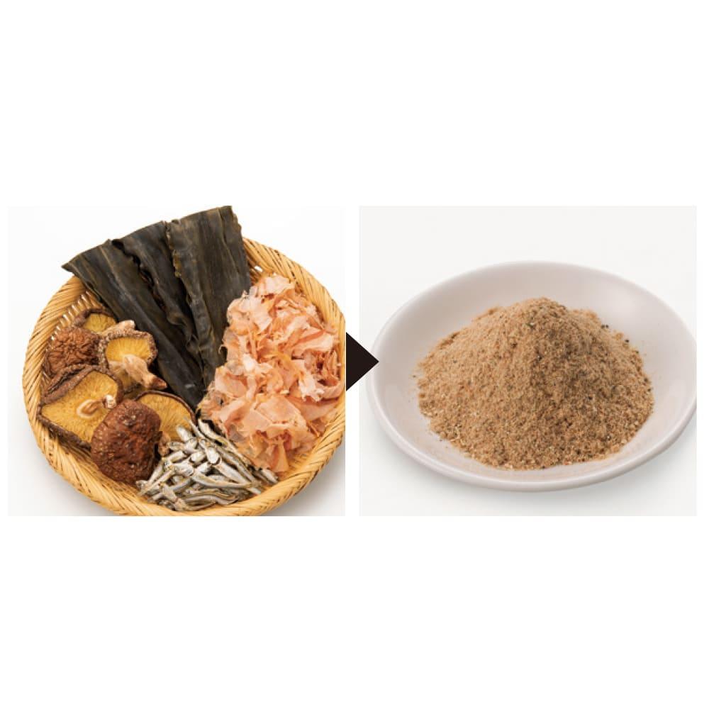 iwatani イワタニ クラシックミルサー おろしカッター&ミクロン容器付き ディノス特別セット 独自の刃の構造で煮干し、鰹節、干し椎茸などの栄養を丸ごと摂れる粉だしに。