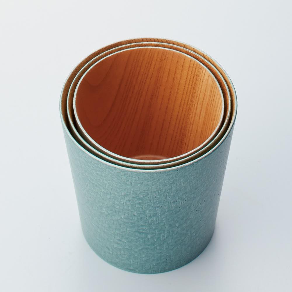 けやきのカップ 「うつろい」 山中漆器 違うサイズは、入れ子にしてコンパクトに収納できます。