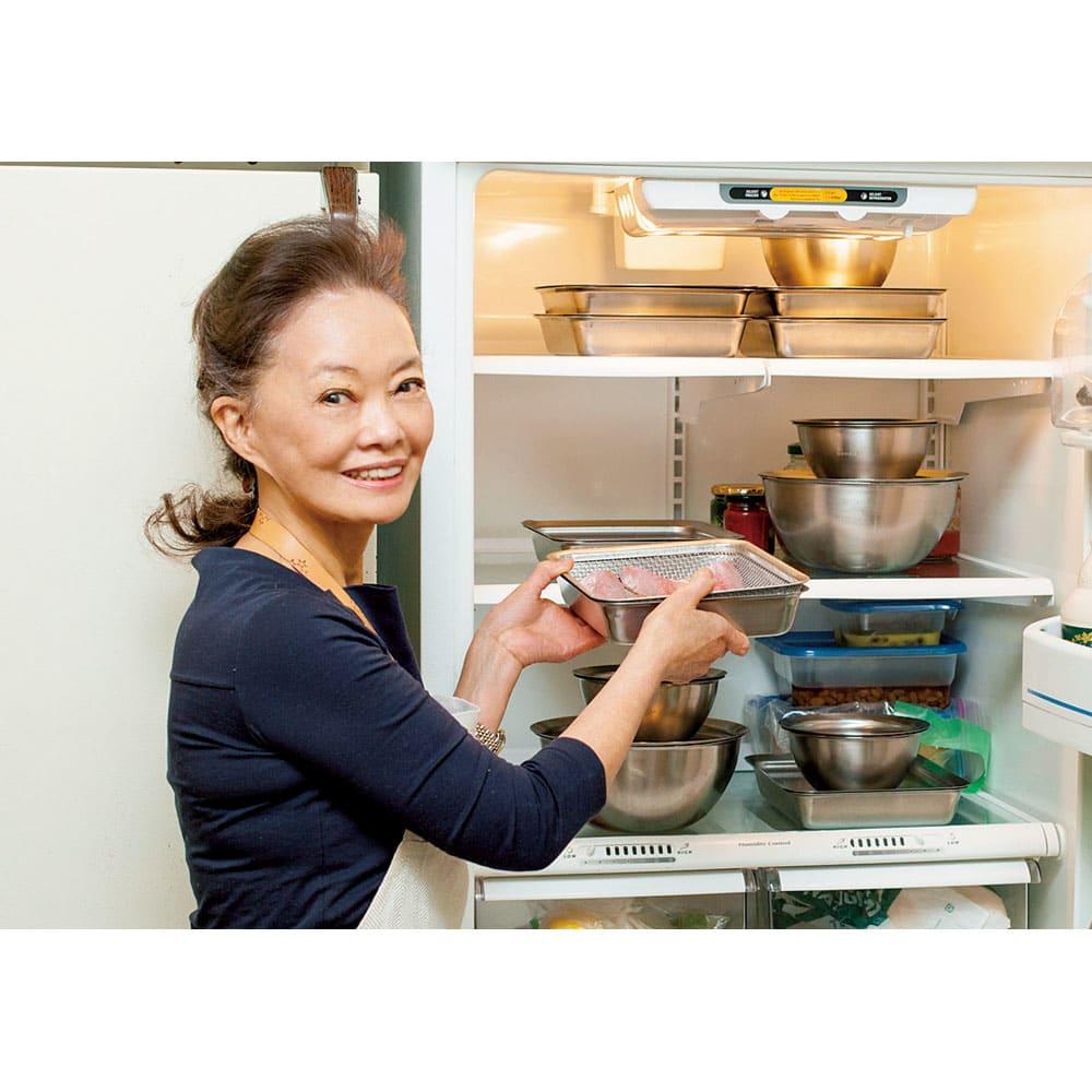 有元葉子のラバーゼ ボウル3点+プレート3枚セット プレートがあると冷蔵庫で重ねて収納できて便利です