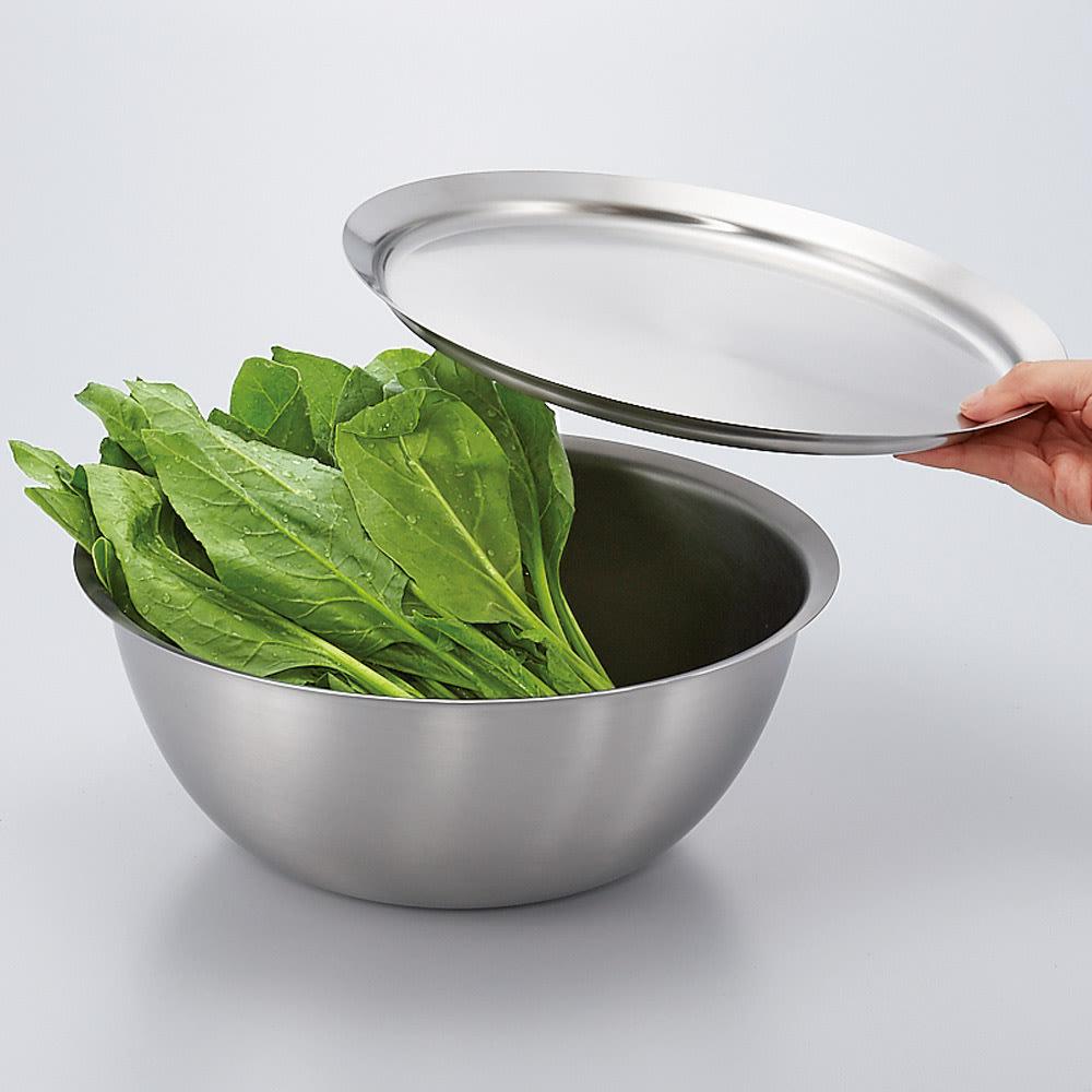ラバーゼボウル、プレートセット フタをして冷蔵庫で保存すると驚くほど野菜が長持ち。