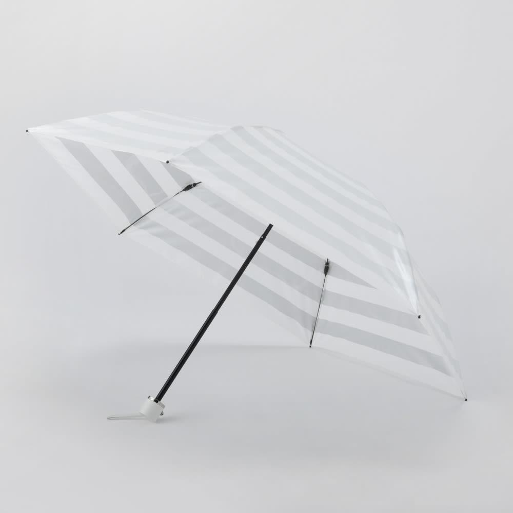 プレミアム ホワイトパール UV遮熱加工晴雨兼用折りたたみ傘 (ア)シルバー 50cm