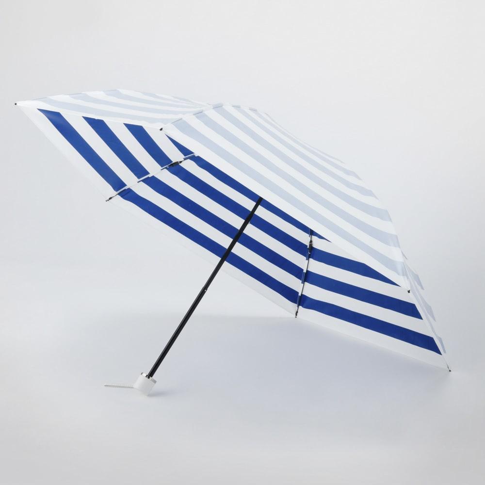 プレミアム ホワイトパール UV遮熱加工晴雨兼用折りたたみ傘 (イ)ネイビー 55cm