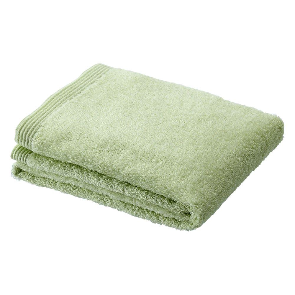 洗うほどやわらかくなるタオル フェイスタオル(色が選べる4枚組) (ク)グリーン