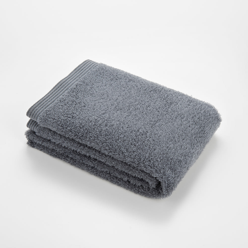 洗うほどやわらかくなるタオル フェイスタオル(色が選べる4枚組) (カ)ダークグレー