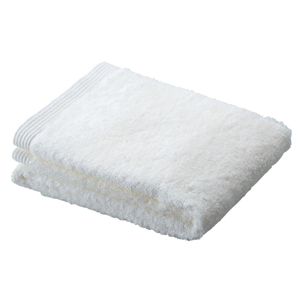 洗うほどやわらかくなるタオル フェイスタオル(色が選べる4枚組) (ア)ホワイト