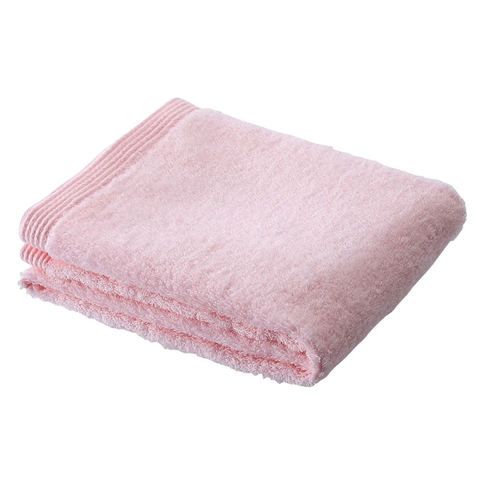 洗うほどやわらかくなるタオル フェイスタオル(色が選べる4枚組) (ウ)ピンク