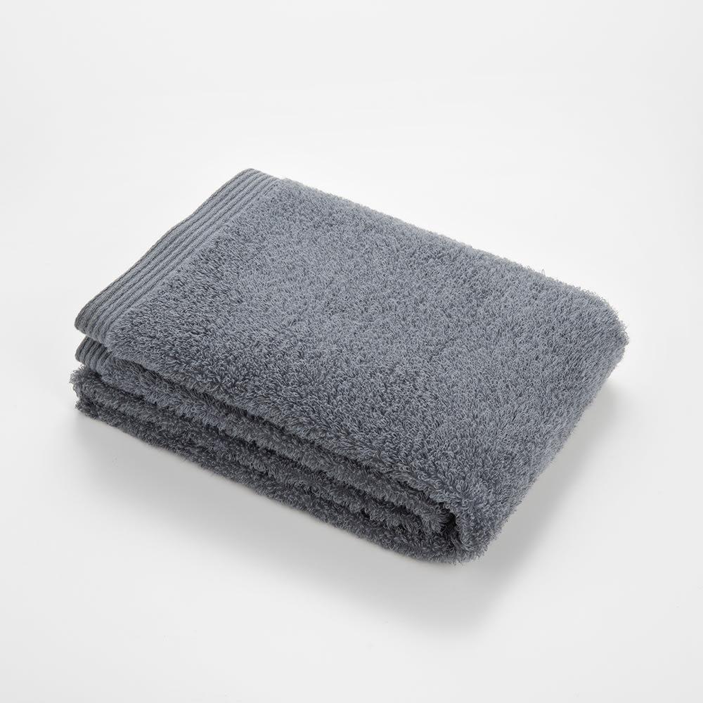 洗うほどやわらかくなるタオル バスタオル(色が選べる2枚組) (カ)ダークグレー ※写真はフェイスタオル
