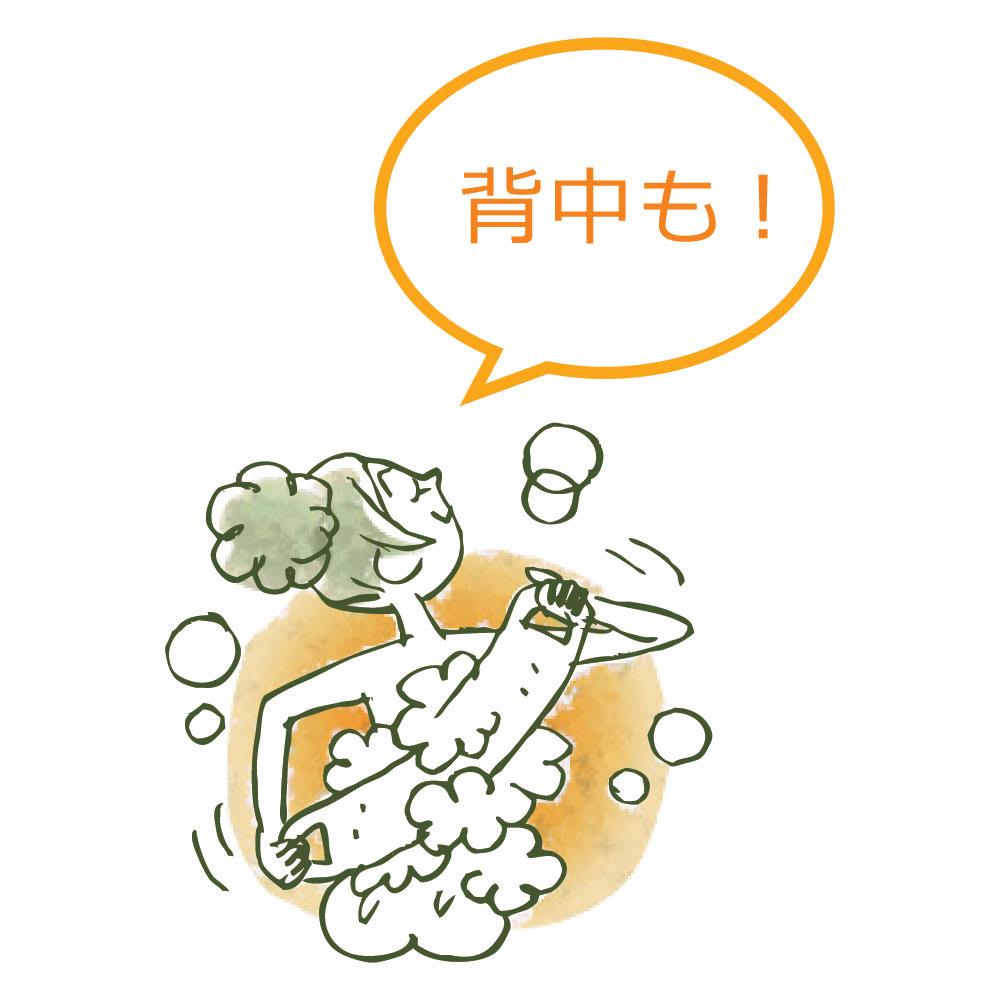 スプラコール ハニカムスポンジ フェイス用・ボディ用セット ボディ用使用イメージ