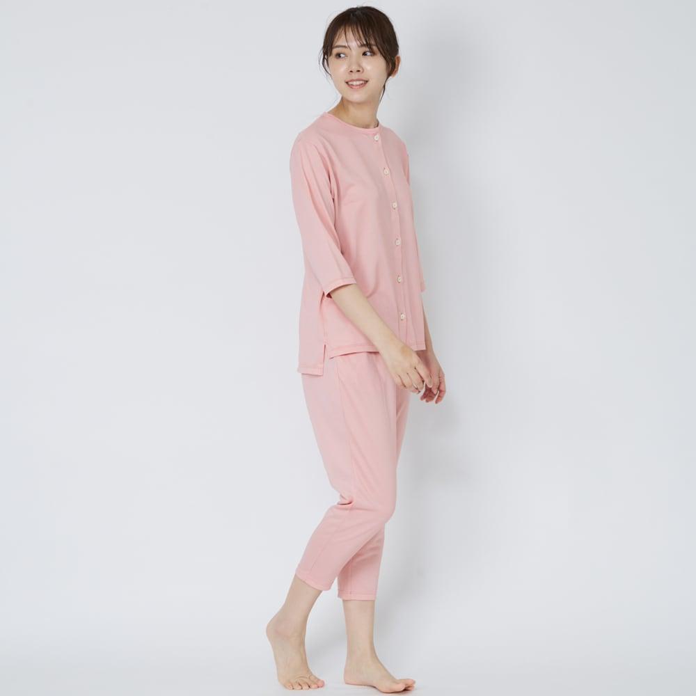 ベネクス コンフォートクールシリーズ 8分丈テーパードパンツ レディース (イ)ピンク 着用イメージ