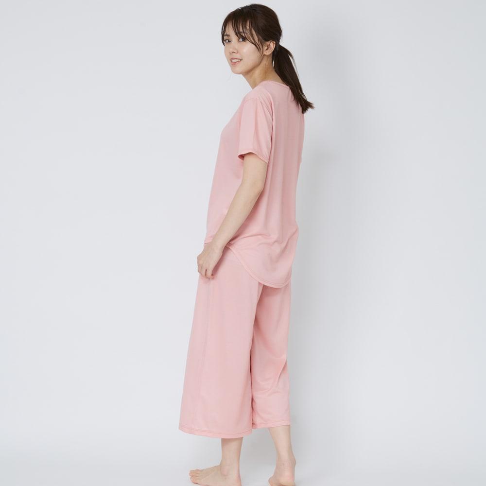 ベネクス コンフォートクールシリーズ ガウチョパンツ レディース (イ)ピンク 着用イメージ