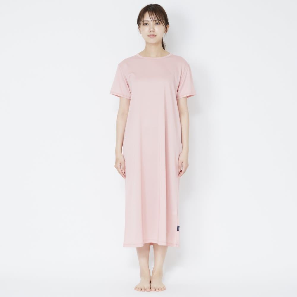 ベネクス コンフォートクールシリーズ ワンピース レディース (イ)ピンク 着用イメージ