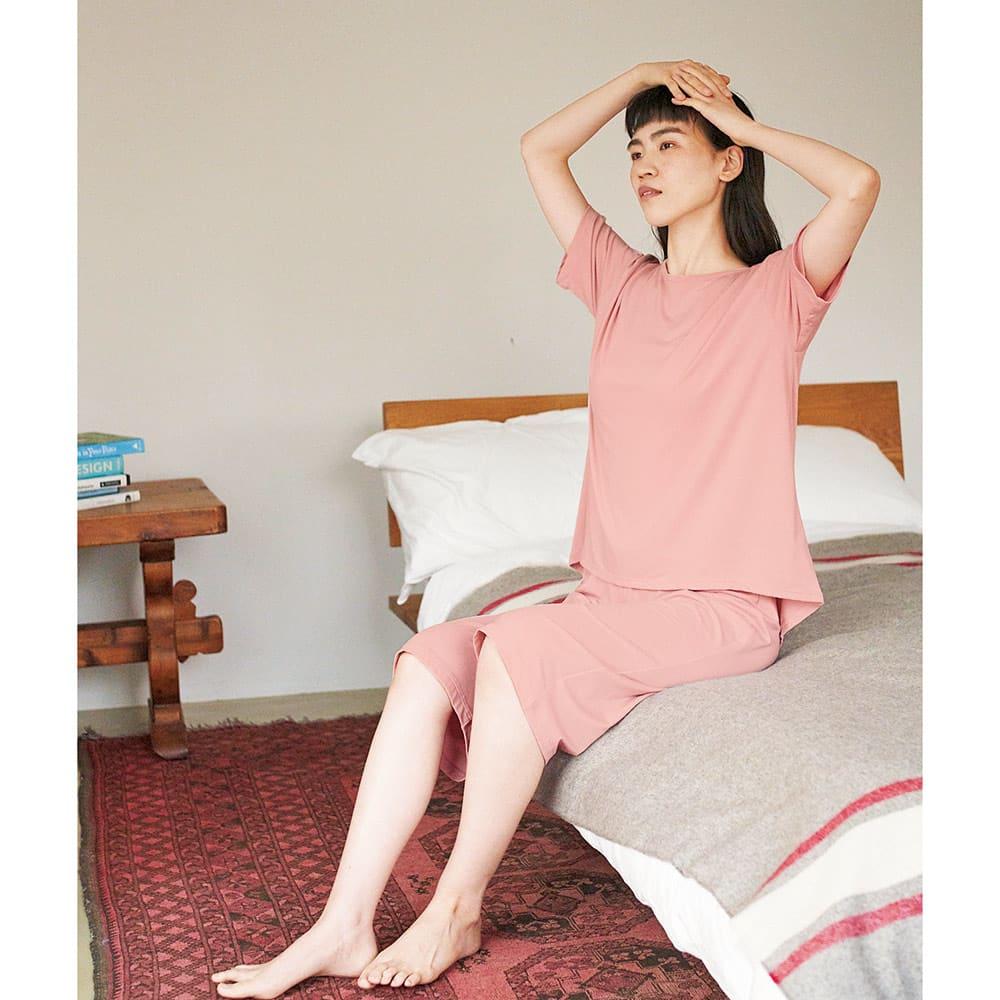 ベネクス コンフォートWセットアップス レディース(専用ポーチ付き) (ア)ピンク 着用イメージ