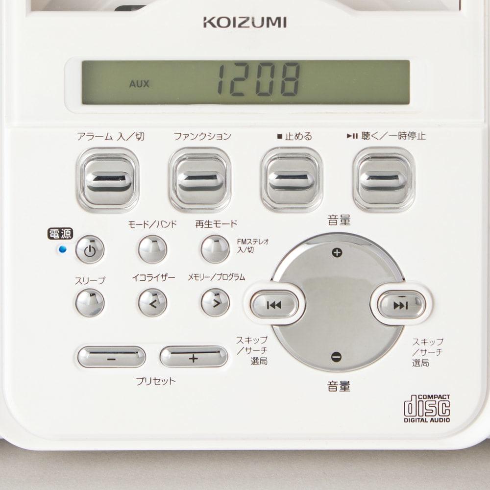 壁掛けCDプレーヤー わかりやすい日本語表示。ご年配の方でも、ひと目で操作がカンタンに。