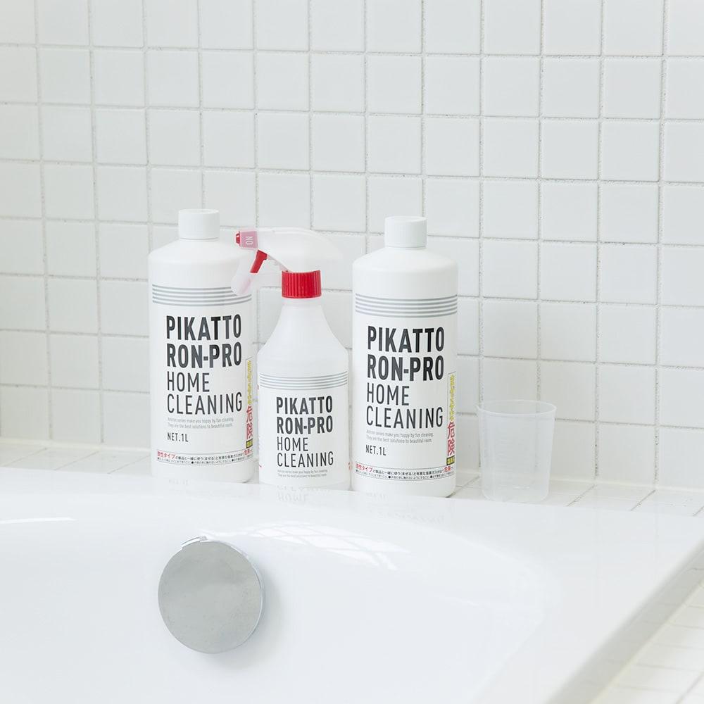 業務用 強力パイプ洗浄剤「ピカットロンプロ」 2Lセット(1L×2本) ロングセラーのピカットロンシリーズ。おしゃれで清潔感あふれるパッケージです。
