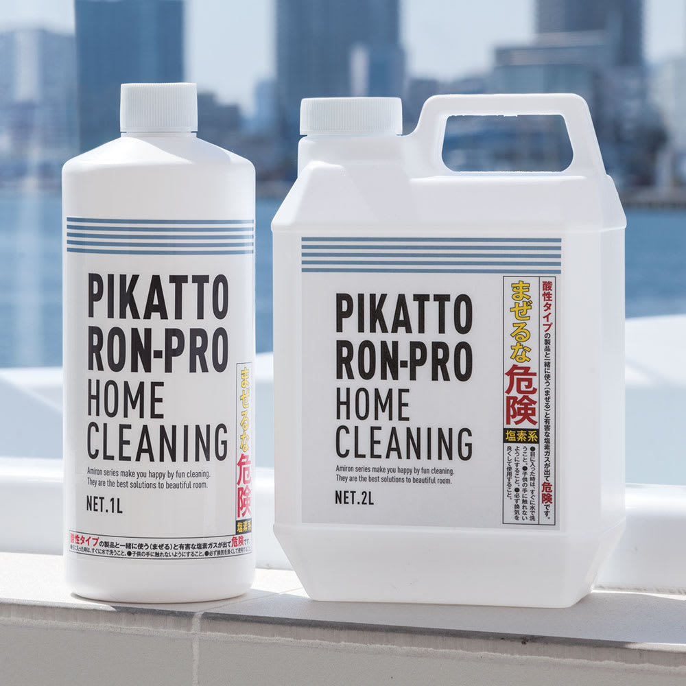 業務用 強力パイプ洗浄剤「ピカットロンプロ」 2Lセット(1L×2本) ※こちらの商品は1リットルボトル×2本の2リットルです。ボトルは左側のタイプとなります。
