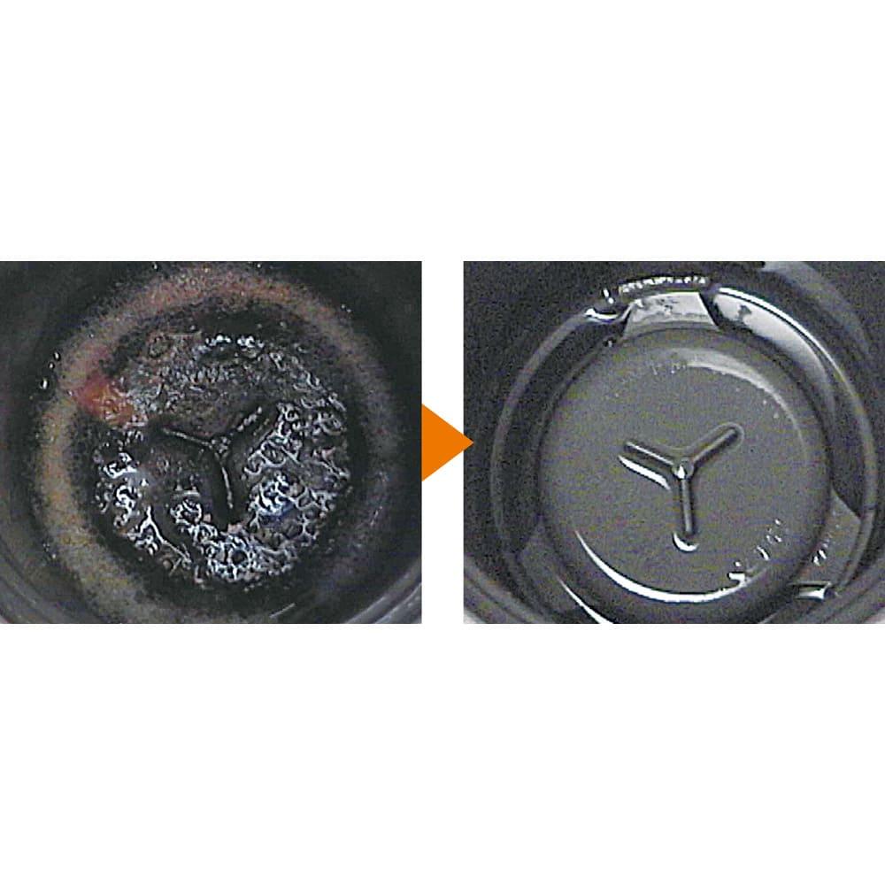 業務用 強力パイプ洗浄剤「ピカットロンプロ」 4Lセット(2L×2本) (キッチンの排水溝)生ゴミや植物性油脂も短時間で分解。キッチンの排水溝もご覧のとおり!