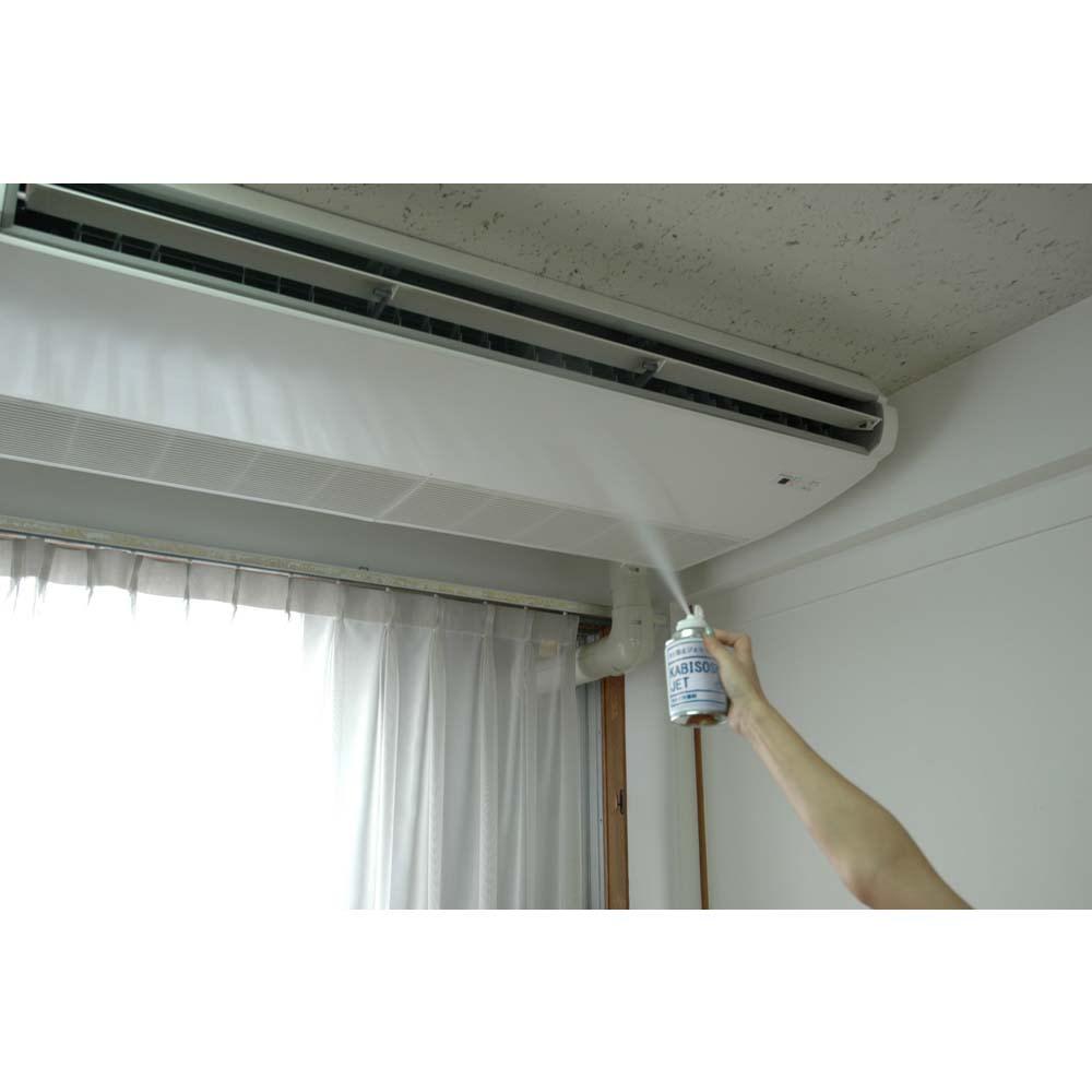 安心空間 カビ阻止ジェット(ホワイトラベル) カビ阻止ジェット1本 エアコンを作動させながら使用すれば、エアコン内部の防カビ処理も同時に出来ます。