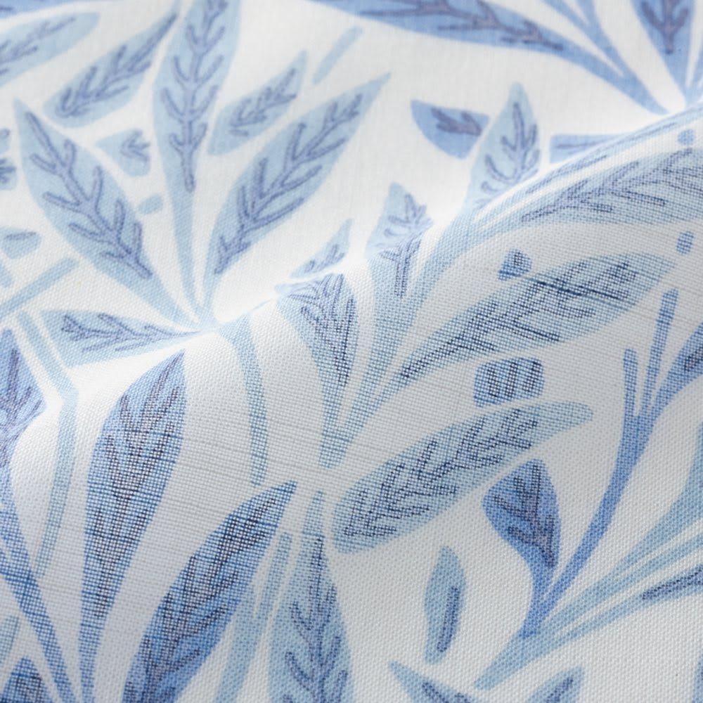 モリス柄モチーフのれん 約幅145丈170 (オ)ウィローシアー・ブルー