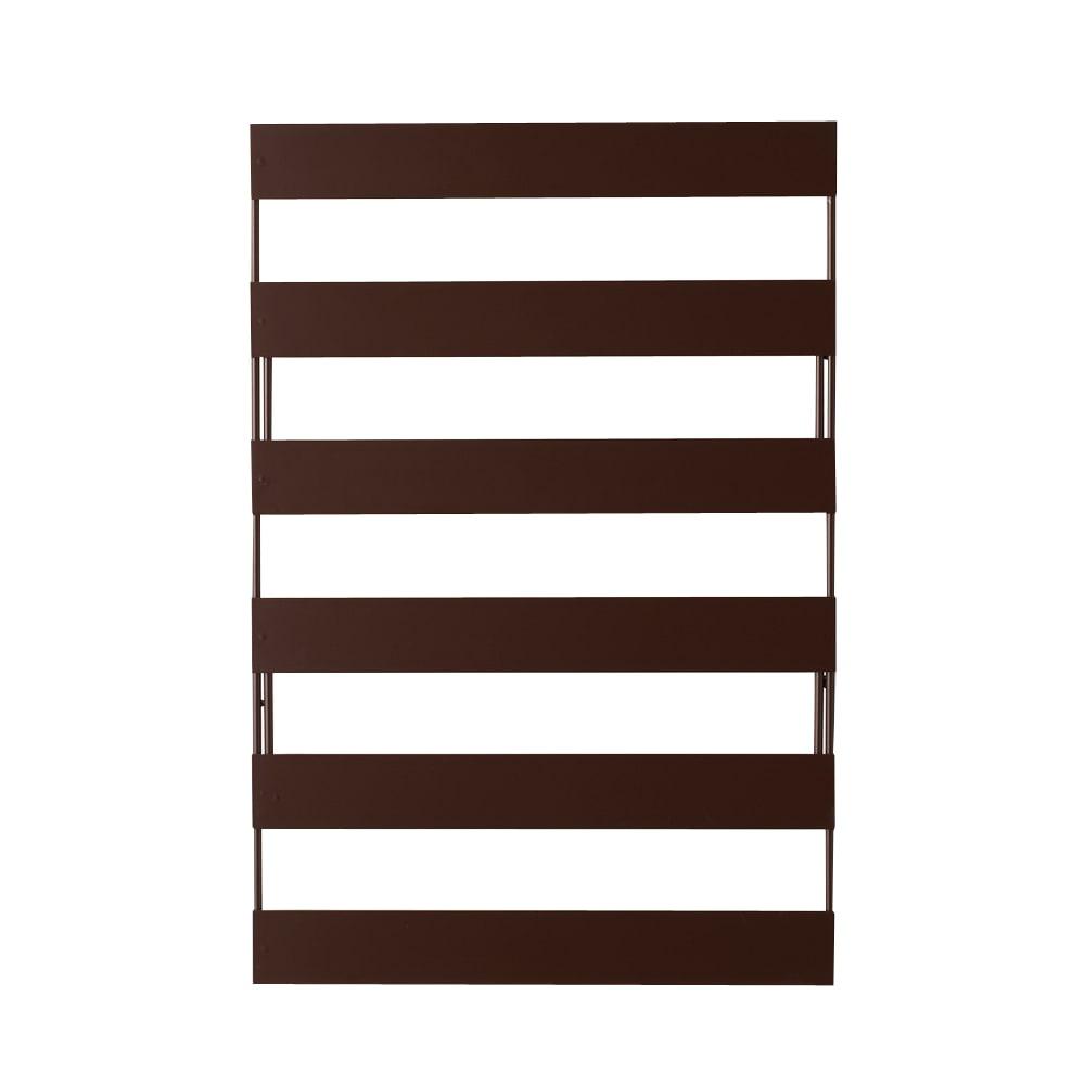 逆ルーバー室外機カバー サイドパネル2枚組 ホースを避けるため片方のパネルは短めのつくり。 ダークブラウン(短) 長×1、短×1の2枚組でお届け。