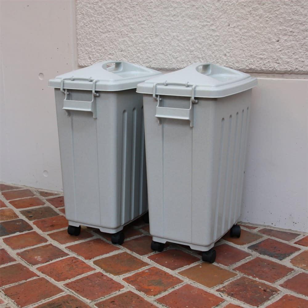 ペール40L キャスター付き 2個組 お住まいのゴミの分別種類に合わせてお選びください。